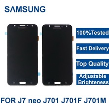 цена на For Samsung Galaxy J7 neo J701 J701F J701M J701MT phone LCD Display Touch Screen Assembly Replacement With Brightness Control