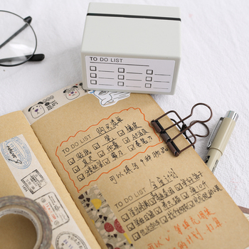 1pc Year Monthly Weekly Photosensitive Seal Creative Schedule Planner Scrapbooking DIY Stamp Students School Office Supplies