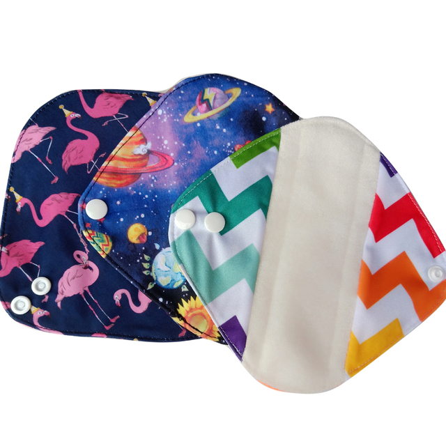 LECY ECO LIFE Health Feminine Hygiene bamboo Panty Liner, Reusable Waterproof Menstrual Cloth Sanitary Pads 17*17cm