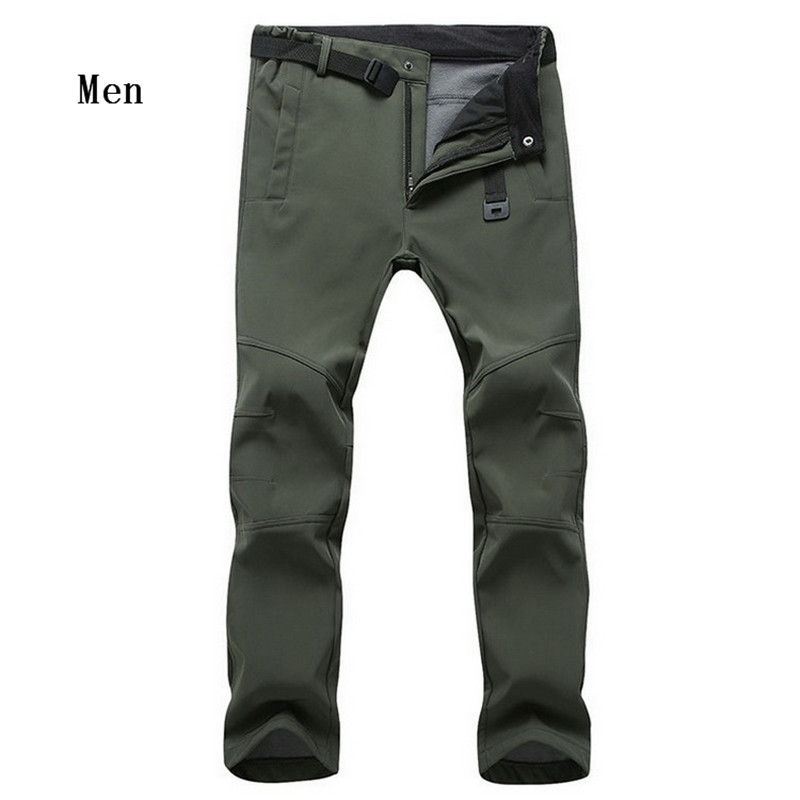 Hot Sale New Winter Men's Fleece SoftShell Windproof Pants Fashion Casual High Quality Man's Pants 34-47 802