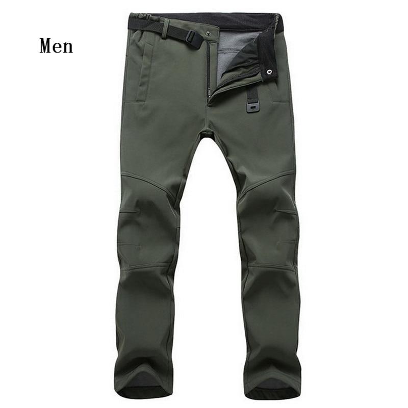 Hot Sale New Winter Men's Fleece SoftShell Windproof Pants Fashion Casual High Quality Man's Pants 34-47 802