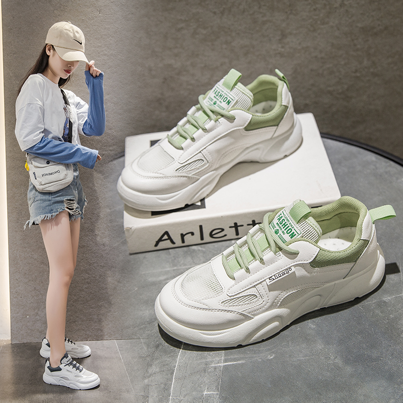Small white shoes women's low top flat bottom Fashion Foundation popular women's leisure sports shoes single shoes