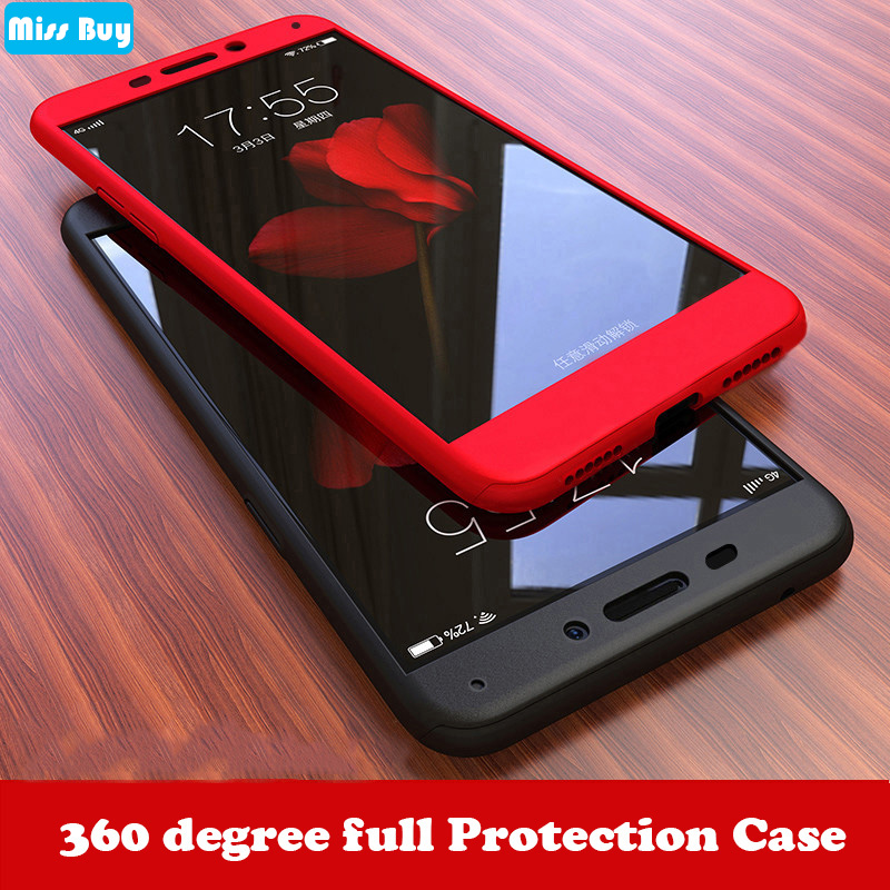 360 Degree Full Protection Case For Huawei Honor 6C Pro Honor 10 Lite Y9 2019 Cover For Honor 8x 6X 7X 5X Case + Tempered Glass