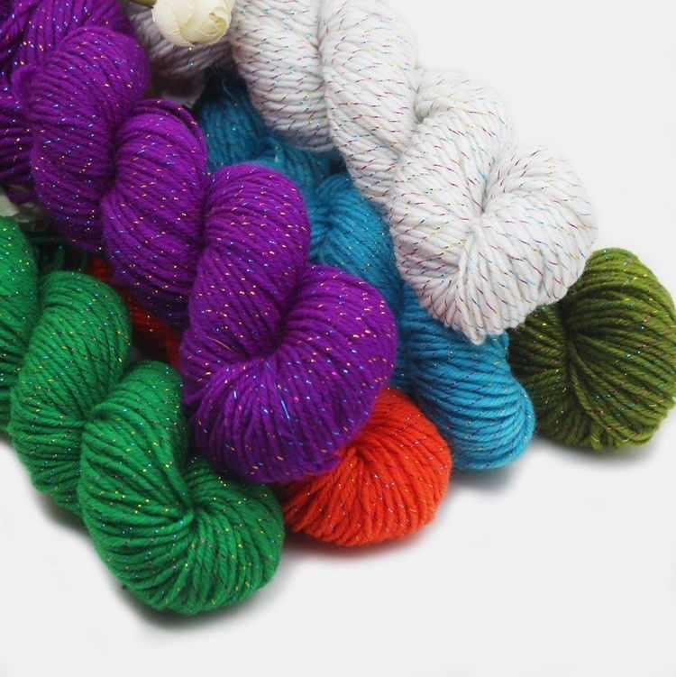 44 cor 50g de Alta Qualidade Lã De Crochê Tricô Artesanal Cachecol Camisola Fios de Ouro Linha de Fios de Fibras Acrílicas Casa Scarfes