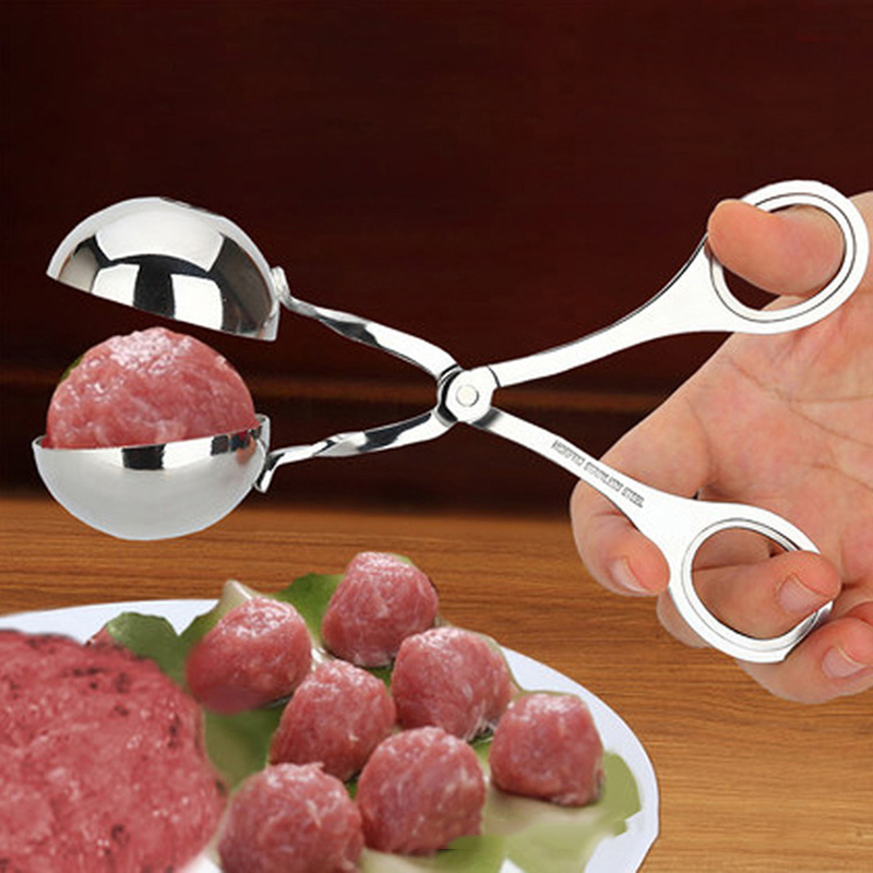2 Size Optional Stainless Steel <font><b>Meatball</b></font> Clip DIY Rice Fish Ball <font><b>Maker</b></font> Kitchen Accessories image