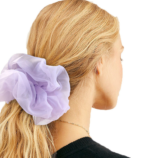 1 Pcs Satin Silk Solid Color Hair Ties Scrunchie Elastic Hair Bands Women Luxury Soft Hair Accessories Ponytail Holder Hair Rope 4
