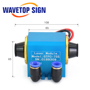 Image 3 - WaveTopSign GTPC 75S 75w 팔꿈치 YAG 레이저 모듈 GTPC 75S 90도 레이저 다이오드 펌프 사용 YAG 레이저 기계