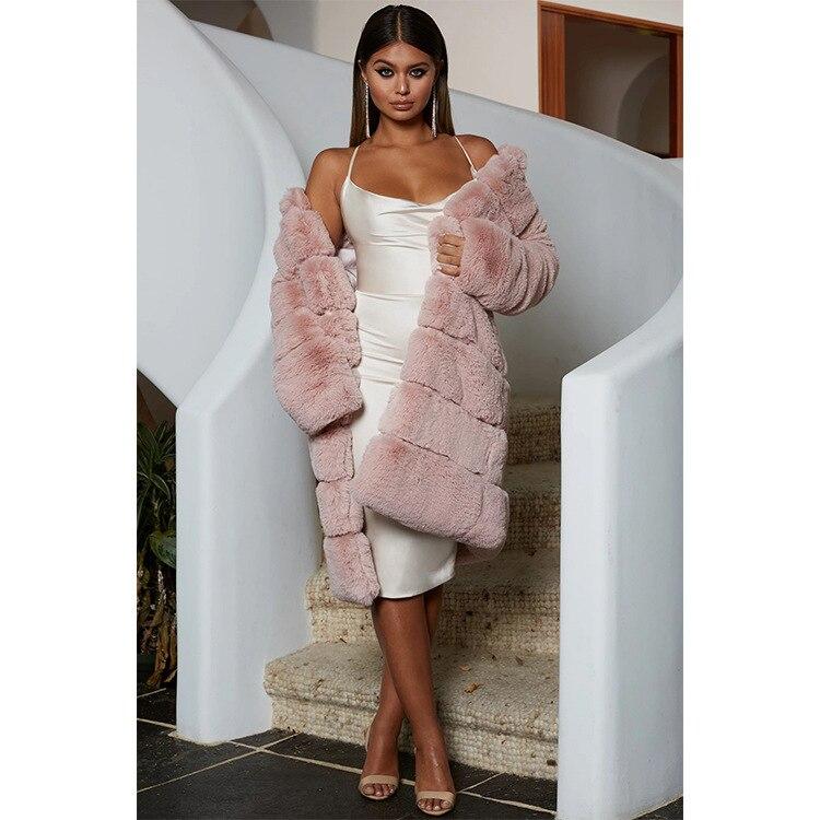 Women Faux Fur Coat Cotton Coat Plus Size S-4XL Thick Long Warm Overcoat Female Coat Windbreaker Outerwear