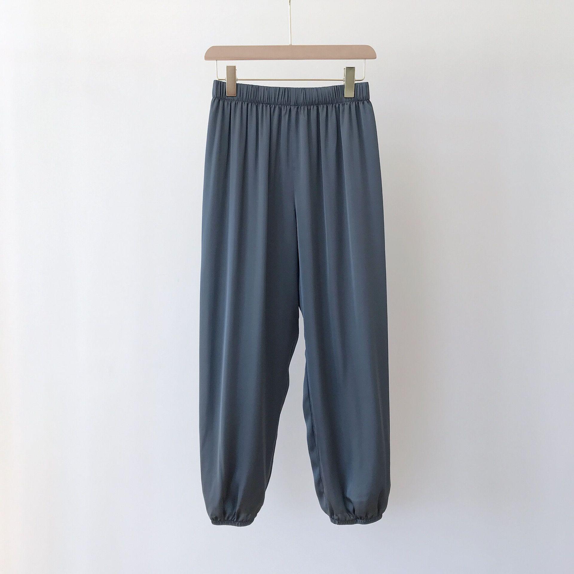 LXS22 Summer Women's Thin Wide-leg Slim Thin Versatile Casual Straight Trousers