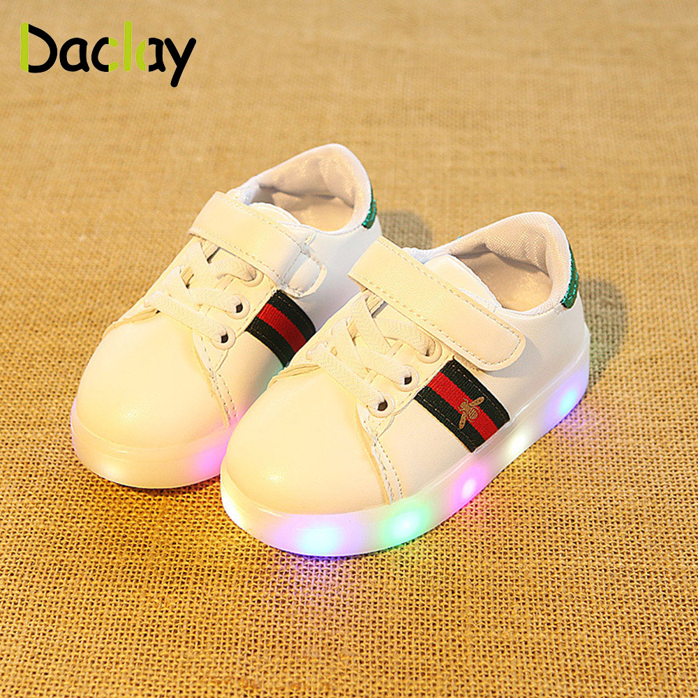 Shoes Boys Girls Light Up Led Shoes Sneakers For Kids Child Anti-slippery Fashion Design Casual Shoes
