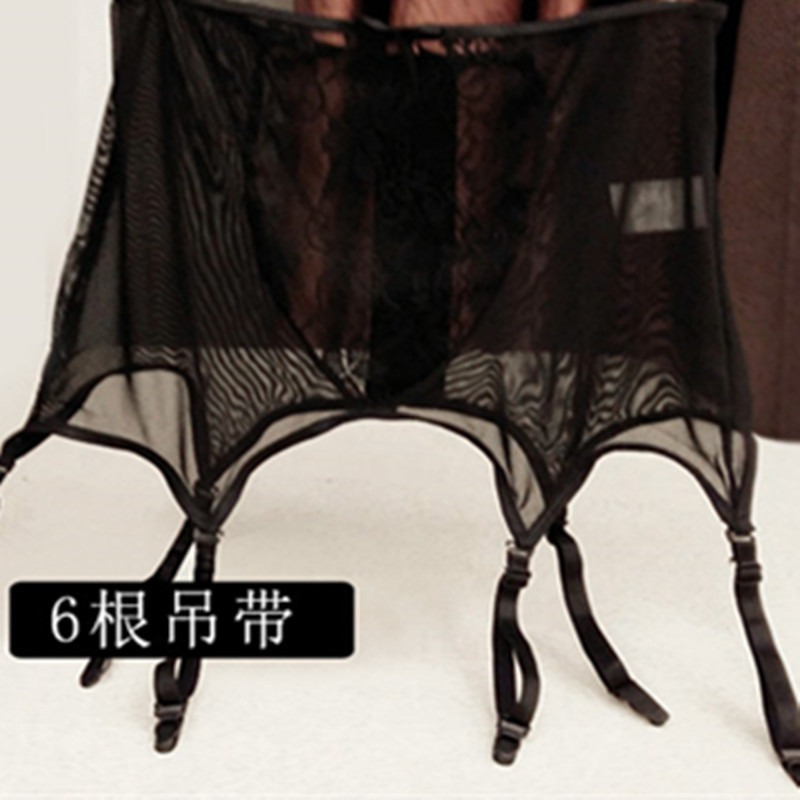 Women Sexy Lingerie high waist Lace stocking Belt sexy suspender lingerie bustier Garter plus Size - underwear