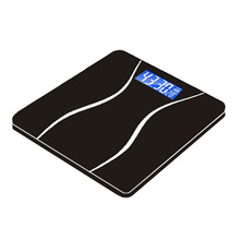 180KG Toughened Glass Digital Weighing Scale Electronic USB Rechargeable Weight Scale With Temperature Display