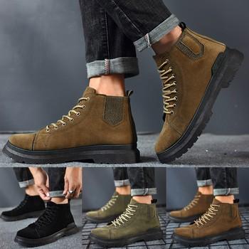 Retro męskie buty alpinizmu na świeżym powietrzu sznurowane buty buty wojskowe oprzyrządowania buty skórzane buty Casual buty motocyklowe tanie i dobre opinie Eillysevens Podstawowe CN (pochodzenie) Sztuczny zamsz ANKLE Stałe Cotton Fabric Okrągły nosek RUBBER Wiosna jesień