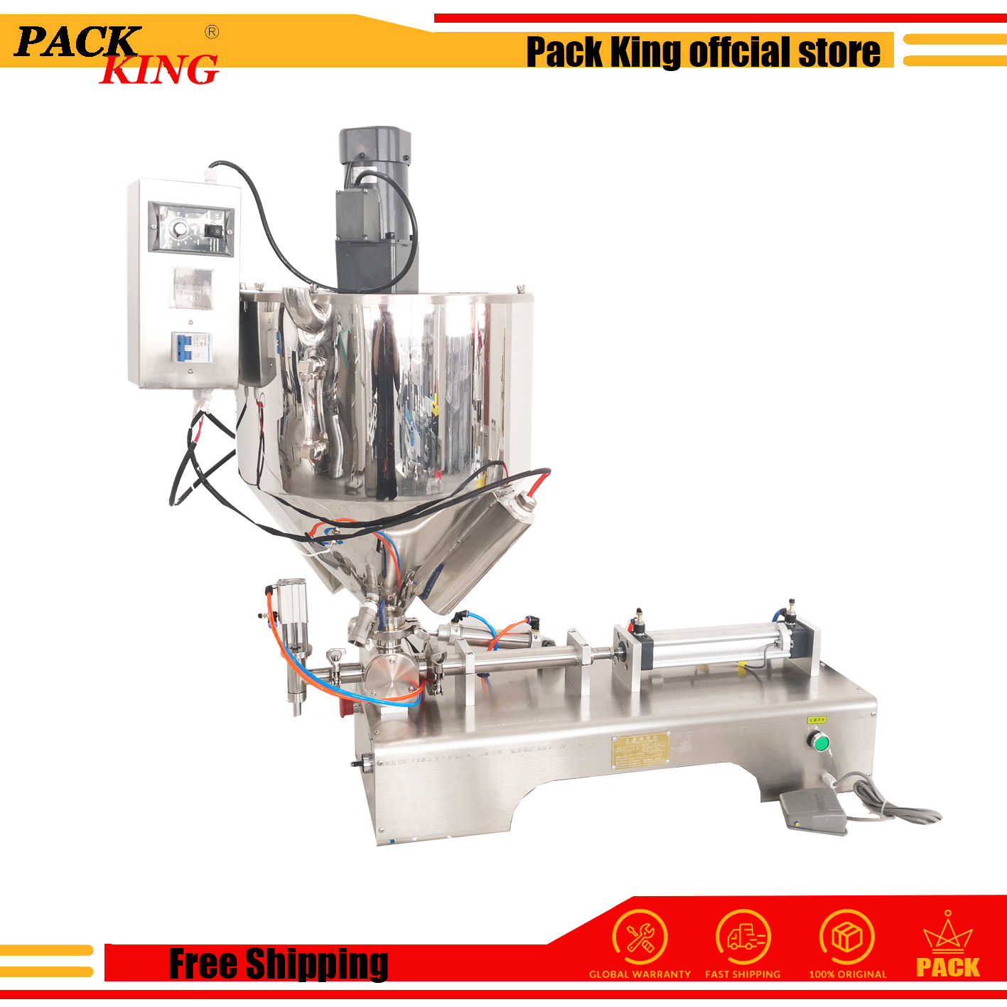 Jam Chilli Sauce Filling Machine Bigger Filling Valve Mixing Hopper Soybean Paste Filling Machine Peanut Butter Cream Filler