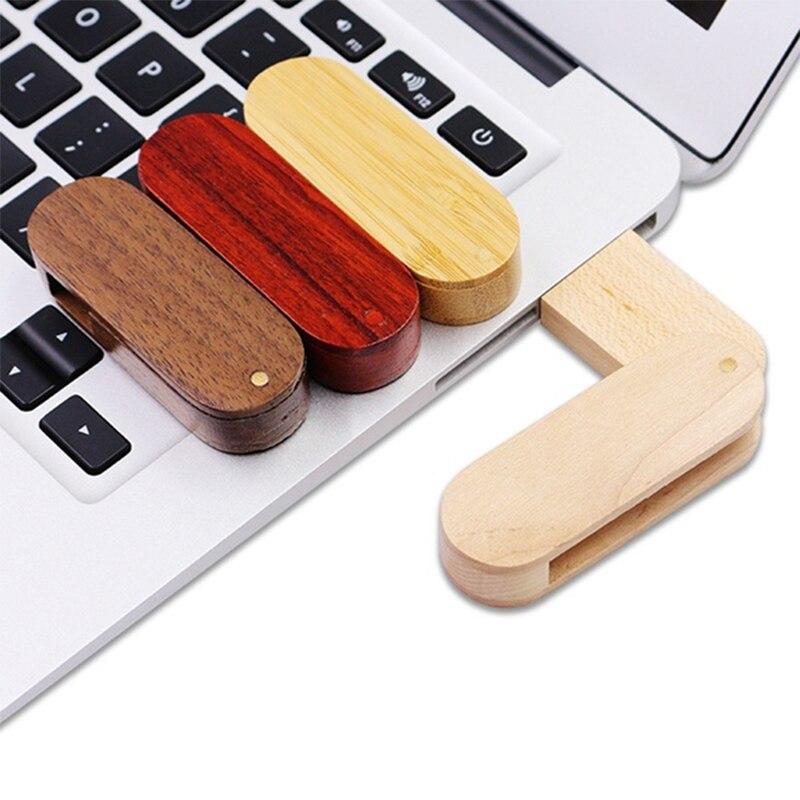 Image 5 - USB флэш накопитель 64 деревянная Флешка поворотный usb 2,0 4 ГБ 8 ГБ Флешка 16 Гб ручка накопитель 32 деревянная Флешка U stick специальный подарок логотип компании на заказ-in USB флэш-накопители from Компьютер и офис