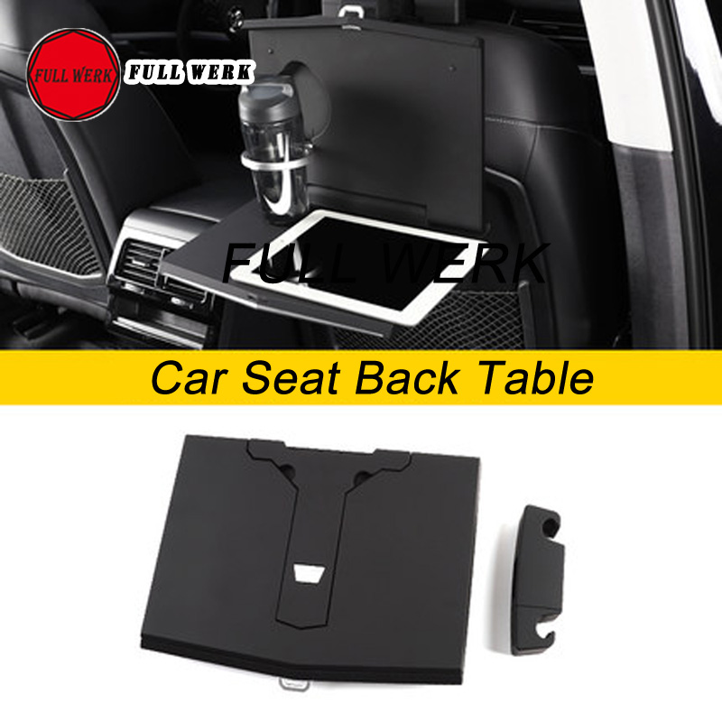 ABS Car Seat Back Hook Phone Pad Bracket Mount Foldable Cup Computer Holder Dinner Table for Touareg Interior Accessories