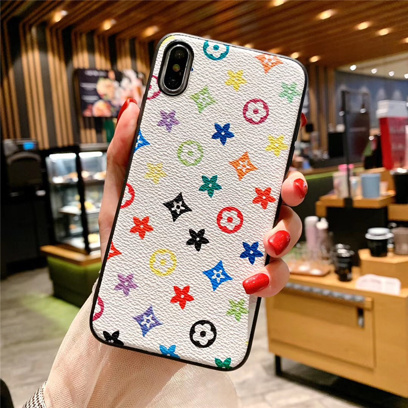Luxury Brand Designer Phone Case for iPhone 11 Pro XR Xs max X 7 8 Plus 11pro PU Leather Soft Silicone Cover Funda