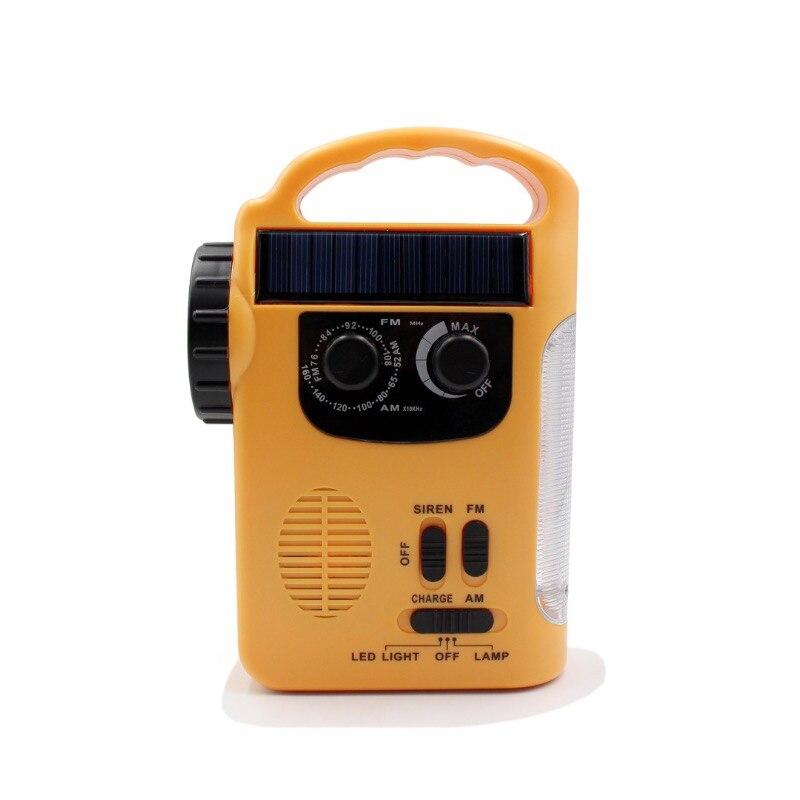 gerador de manivela da mao do carregador de emergencia alimentado pela luz solar dinamo alimentado fm