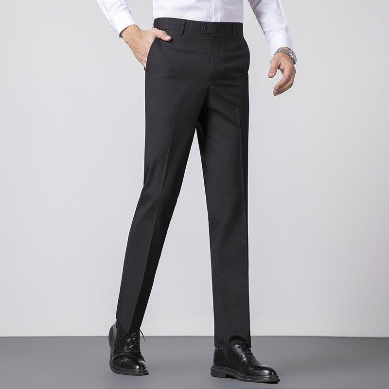 2019 Winter Men Dress Pants Slim Fit Men Office Trousers Formal Wedding Men Classic Pants Business Suit Pants