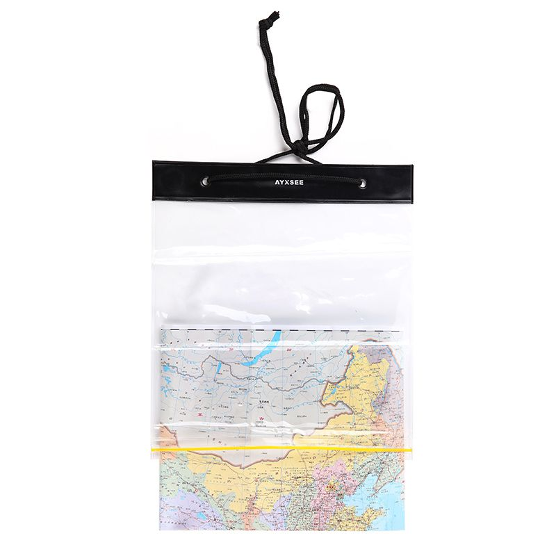 Portable Waterproof Map Covers Storage Case Transparent Thick PVC Plastic Dry Bag For Outdoor Camping Hiking