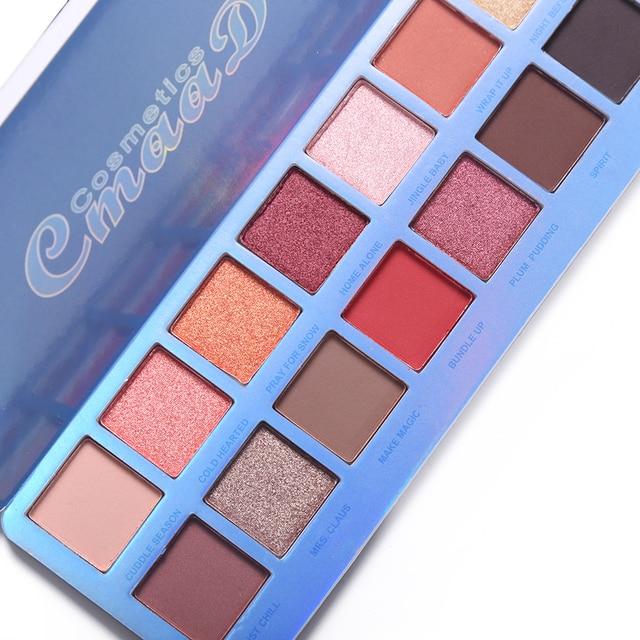 Cmaadu Chill Baby 14 Colors Eyeshadow Makeup Palette Shimmer Matte Nude Shining Waterproof Smoky Eye Shadow Powder Cosmetics 3