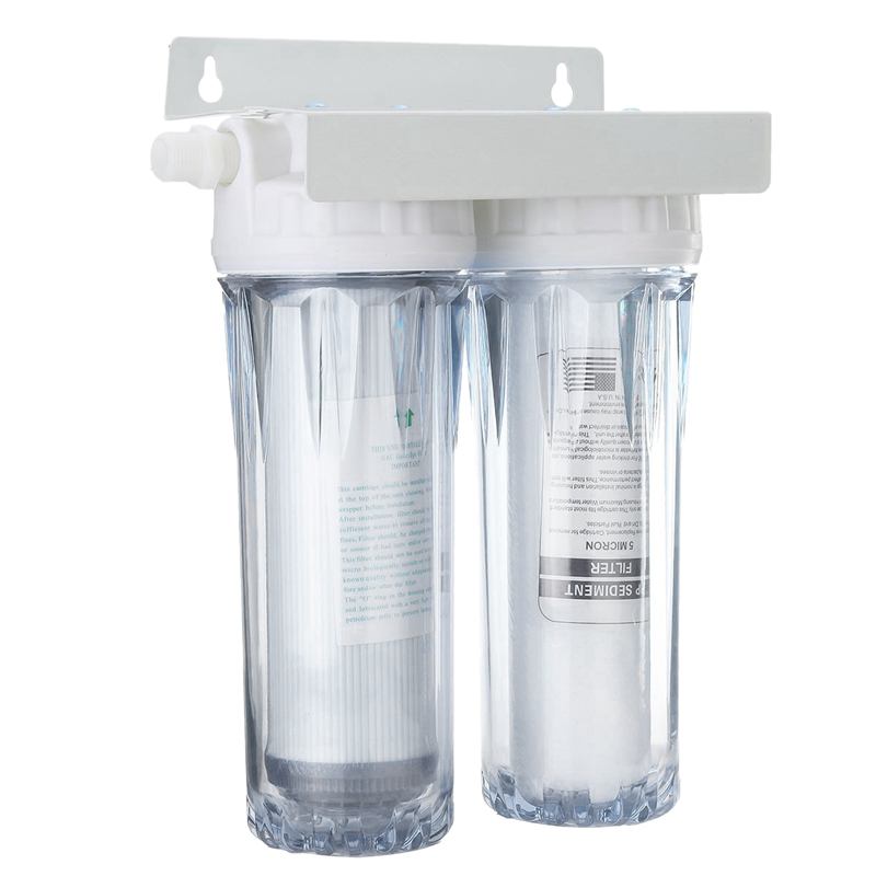 10 Inch Dual Dual Reverse Osmosis Faucet Tap Water Filter Health Purifier Cartridge Home Kitchen