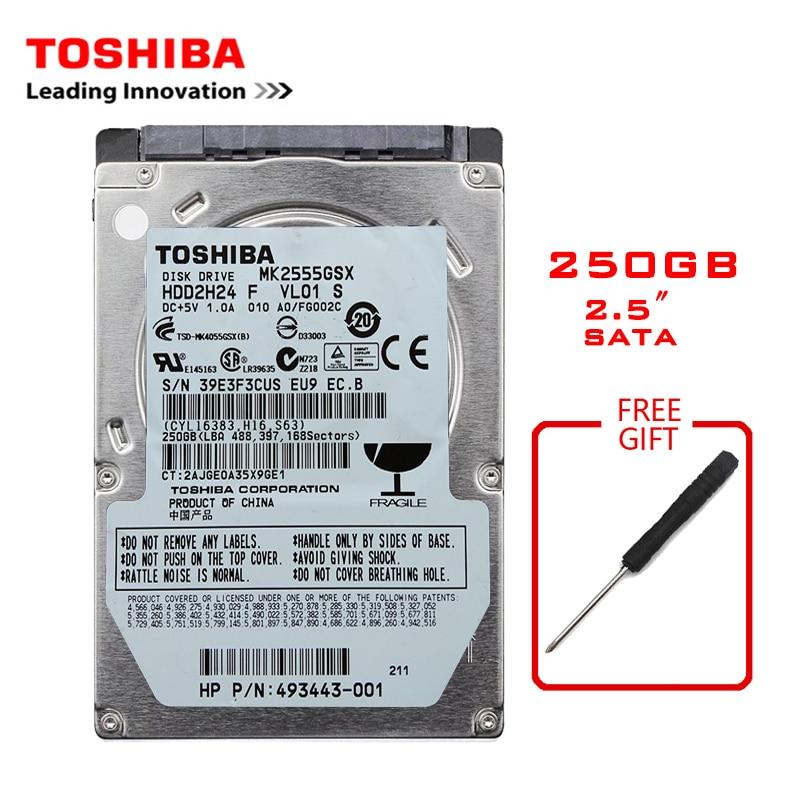 "TOSHIBA Brand 250GB 2.5"" SATA2 Laptop Notebook Internal 250G HDD Hard Disk Drive 150MB/s 2/8mb 5400-7200RPM disco duro interno"
