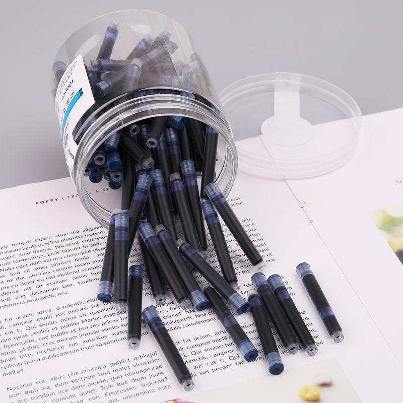 100 шт. Jinhao универсальные стираемые картриджи с чернилами и чернилами 3,4 мм, школьные канцелярские принадлежности