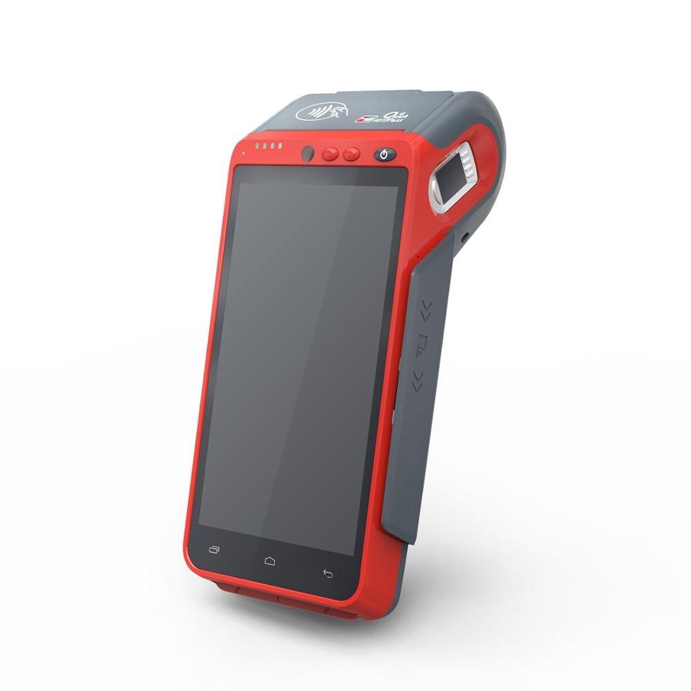 Android 7,0 портативный терминал RAM1GB + ROM8GB Pos System 4G WIFI Bluetooth с NFC кардридером и 58 мм термопринтером Z100C