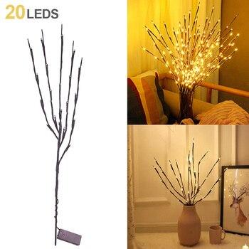 A - 20light Simulation Tree Branch LED Light String Christmas Decorations for Home Christmas Tree De