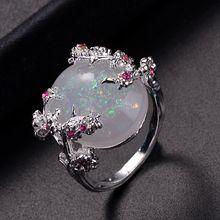 Красивое дерево & кольцо в виде цветка ювелирное изделие из