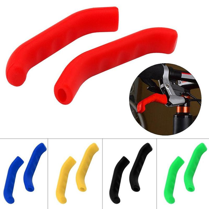 Bicycle Silicone Gel Brake Handle Lever Cover Protect Mountain Road Bike Protection Sleeve Scooter 1 Pair