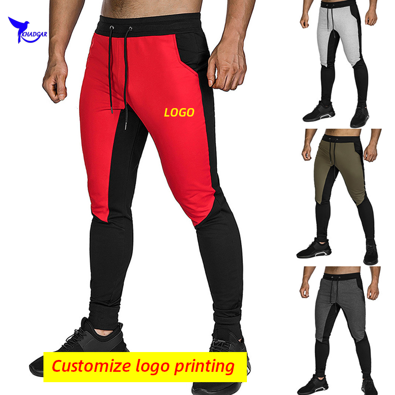 2020 Quick Dry Patchwork Running Sweatpants Men Sport GYM Fitness Jogging Pants Male Training Workout Sportswear Trousers Custom