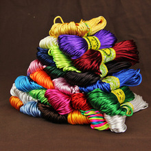 20M/lot Braided Macrame Silk Cord Rope Thread Wire 2mm DIY Chinese Knot Satin Nylon Bracelets Making Findings Beading