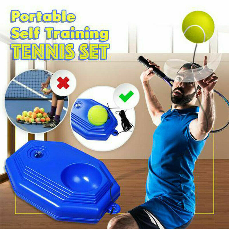 Heavy Duty Tennis Training Aid Tool With Elastic Rope Ball Practice Self Rebound Tennis Trainer Partner  Device