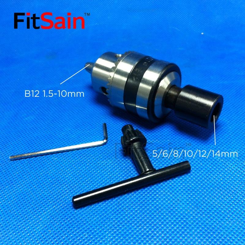 Mini uchwyt wiertarski FitSain-B12 1,5-10 mm do wału silnika 5/6 / - Akcesoria do elektronarzędzi - Zdjęcie 2