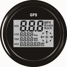 Auto Digital GPS Speedometers 85mm Speed Odometers 9 32v Waterproof LCD Speed Indicators 0 999 Indication
