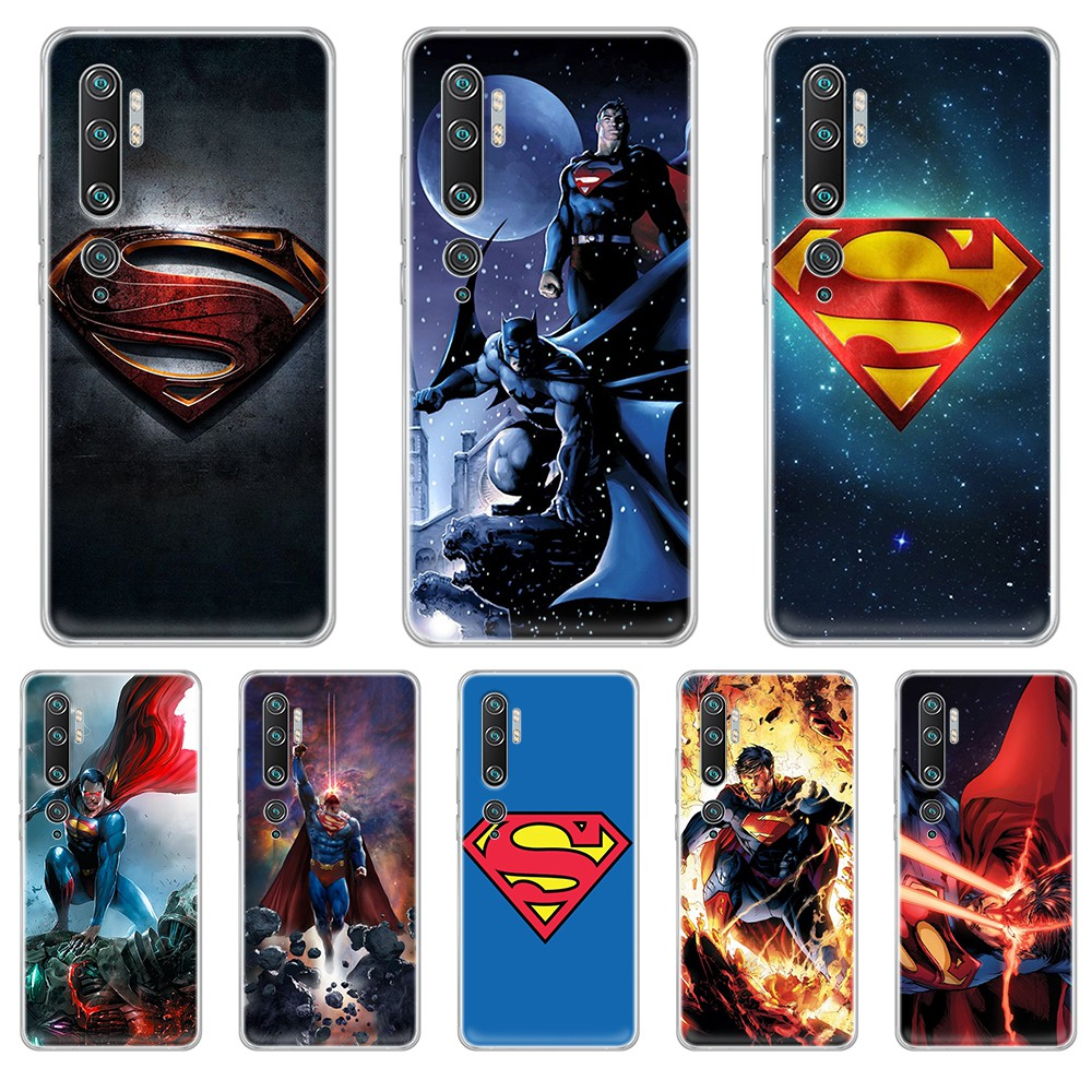 <font><b>DC</b></font> Super hero Superman silicone tpu shell Etui Transparent Phone Case For XIAOMI mi <font><b>3</b></font> 4 <font><b>5</b></font> 5X 8 9 10 se max pro a2 9T note lite image