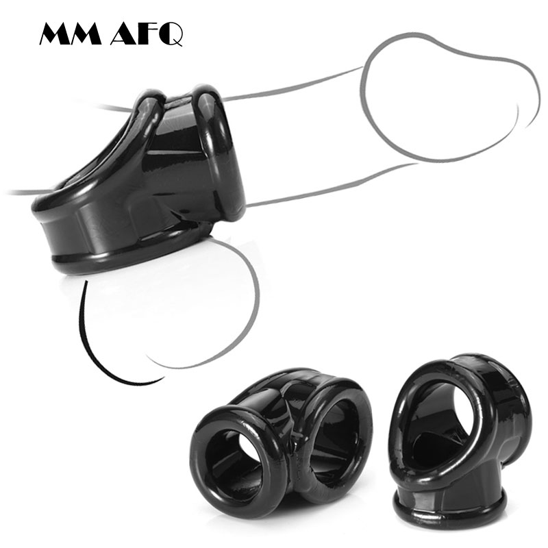 Ball Stretcher Cock Ring Male Chastity Device Penis Ring Scrotum Testicles Bondage Rings Time Delay Cock Cage Adult Toys For Men