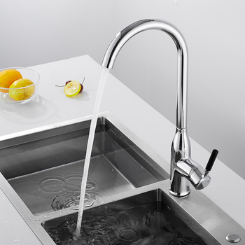 Kitchen Faucets Single Handle Single Hole Kitchen Faucet Swivel 360 Degree Water Mixer Tap Kitchen Mixer Sink Tap kitchen faucets silver single handle pull out kitchen sink tap single hole handle swivel 360 degree rotation water mixer tap