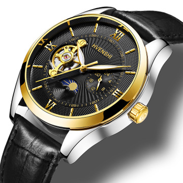 HVENSHI Watch Men Luxury Waterproof Mechanical Watch Men Automatic Moon Phase Men's Mechanical Self Wind Watches relogio clock