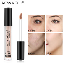 цена на Miss Rose Foundation Liquid Concealer Waterproof Makeup Cosmetics Full Coverage Face Foundation Cream Maquillaje Profesional