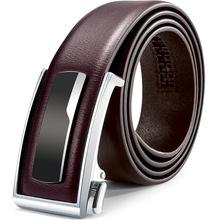 Business minimalist style Full Grain Cow Leather Genuine Leather Belt Men Genuine Luxury Leather Belts Metal Automatic Buckle cheap Adult Split Leather CN(Origin) 3 5cm Casual PD02 alloy