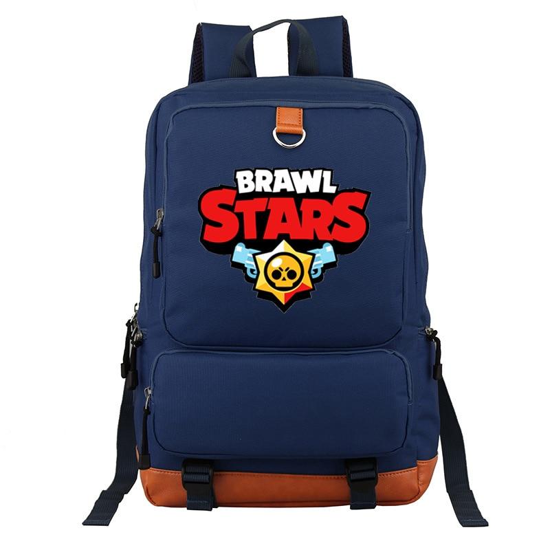 New Games Brawl Stars Boys Girls School Bag Women Bagpack Teenagers Mochilas Canvas Men Student Backpack Packsack