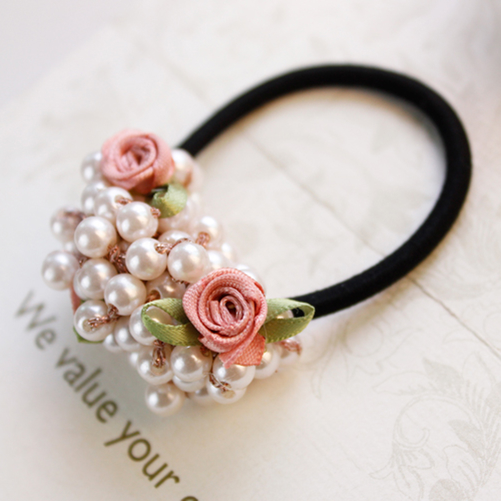 2020 Hot Fashion 1Pc Ponytail Holder Cute Fabric Elastic Hair Bands Hair Rope For Female Ties Girls Hair Accessories