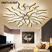 Modern led ceiling chandeliers for living room, kitchen., ultra-thin chandelier 50% luxury bridal