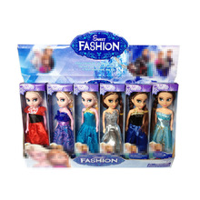 (lis)High Quality 6PCS/Lot Boneca 17cm Elsa Doll Girls Toys Fever 2 Princess Anna And Dolls Clothes For Children Xmas