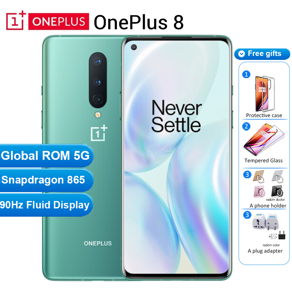 Global Firmware Oneplus 8 5G Mobile Phone 12GB 256GB /8GB 128GB 6.55