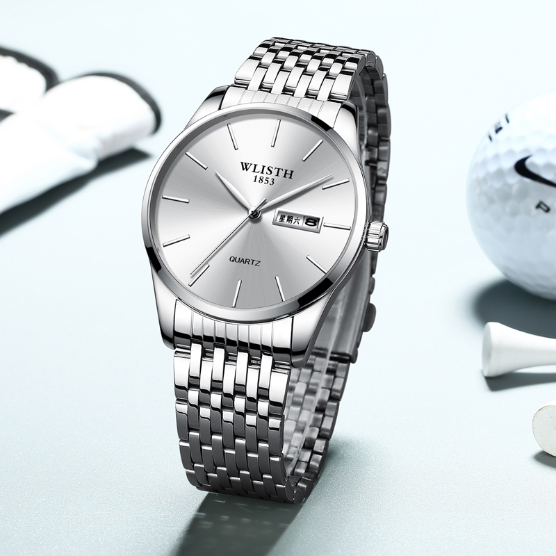 Fashion Men Watches Man Waterproof Crystal Stainless Steel Analog Quartz Watch Business Man Watch Military Watches Reloj Hombre