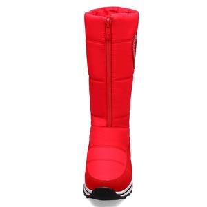 Image 4 - MORAZORA 2020 جديد جلد البقر الثلوج أحذية النساء أسافين الأحذية منصة مقاوم للماء سميكة الفراء الدافئة الشتاء أحذية السيدات نصف بوتاس